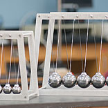 Newtons Cradle Giant and Giant Junior in Physics Lab