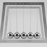 Newtons Cradle Front View